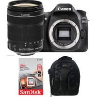 Canon EOS 80D + 18-135 Lens + Hafıza Kartı + Eye Sırt Çantası
