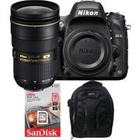 Nikon D610 + 24-70 Lens + Hafıza Kartı + Eye Sırt Çantası