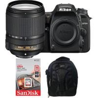 Nikon D7500 + 18-140 Lens + Hafıza Kartı + Eye Sırt Çantası
