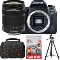 Canon EOS 77D + 18-135 Lens + Hafıza Kartı + Çanta + Tripod