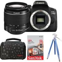 Canon EOS 750D + 18-55 Lens + Hafıza Kartı + Çanta + Tripod
