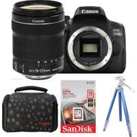 Canon EOS 750D + 18-135 Lens + Hafıza Kartı + Çanta + Tripod