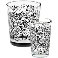 Joy Glass 12 Parça Siyah Şal Su Ve Kahveyanı Su Takımı P42875S & P52291D1