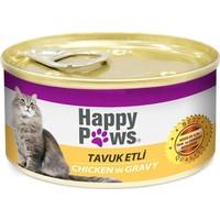 Happy Paws Tavuk Etli ve Soslu Kedi Konservesi 80 gr