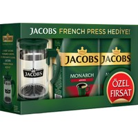 Jacobs Monarch Aroma Filtre Kahve 2 x 500 gr + French Press