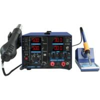 Sunline 853D+ 5A Sıcak Hava Üfleme Isı Kontrollü Lehimleme İstasyonu + 5 Amper Güç Kaynağı
