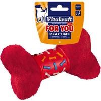 Vitakraft Köpek Oyuncağı Lastikli Peluş Kemik 17 Cm