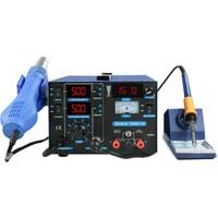 Sunline 853D+ 3A Sıcak Hava Üfleme Isı Kontrollü Lehimleme İstasyonu + 3 Amper Güç Kaynağı