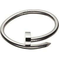 Forentina Erkek Gri Çelik Çivi Bileklik Fr0527