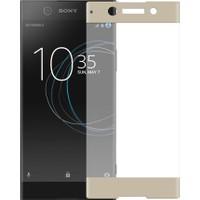Microcase Sony Xperia Xa1 3D Curve Fit Eğimli Renkli Tempered Cam