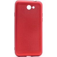 Microcase General Mobile Gm6 Mesh Delikli Rubber Silikon + Tempered Cam