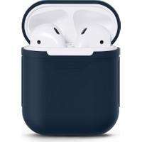Case 4U Apple Airpods Silikon Kılıf Lacivert
