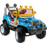 Aliş 502TK Akülü Oto Kumandalı Mavi Turbo Jeep Mavi