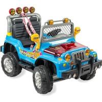 Aliş Akülü 504-Mavi Mega Jeep Çift Kişilik Akülü Araba