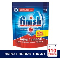 Finish Powerball Hepsi 1 Arada Bulaşık Makinesi Deterjanı 110 Tablet