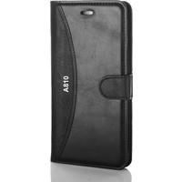 Gpack Samsung Galaxy A8 2016 Kılıf Dikişli Standlı MMC Cüzdan