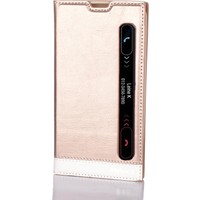 Gpack LG Stylus 2 Kılıf Gizli Mıknatıslı Pencereli Milano + Kırılmaz Cam