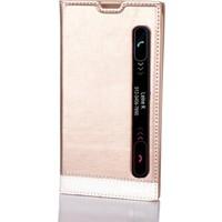 Gpack LG Stylus 2 Kılıf Gizli Mıknatıslı Pencereli Milano + Kalem + Kırılmaz Cam