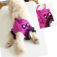 Kemique Eflatun Siyah Dantelli Kemique'S Secret Köpek İç Çamaşırı Regl Külot Don