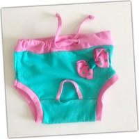 Kemique Yeşil Pembe Kurdelalı Kemique'S Secret Köpek İç Çamaşırı Regl Külot Don