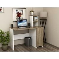 BMdekor Loves Bilgisayar Masası Beyaz Ceviz