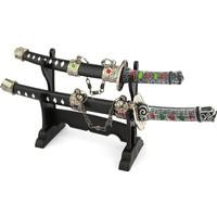 Hunga İkili Kama Kılıç Dekoratif Standlı