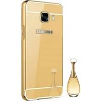 Gpack Samsung Galaxy A8 2016 Kılıf Aynalı Metal Bumper Case
