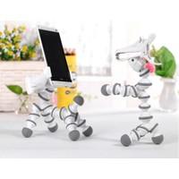 Masaüstü Telefon Tutucu Stand - Beyaz-Siyah - Horse Phone Holder