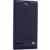 Case Man Sony Xperia Xa1 Kılıf Elegant Kapaklı + Temperli Cam + Cep Bakım Kiti