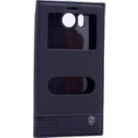 Case Man General Mobile Gm 6 Kılıf Elegant Pencereli + Stylus Kalem + Cep Bakım Seti