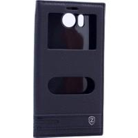 Case Man Vestel Venüs V3 5530 Kılıf Elegant Pencereli + Stylus Kalem + Cep Bakım Seti