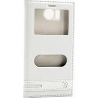 Case Man Sony Xperia C4 Kılıf Elegant Pencereli + Temperli Cam + Cep Bakım Seti