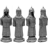 Pigoda Büyük Boy Cevşen Yazılı Zırh Biblo - Gümüş Renk