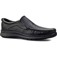 Cabani Bağcıksız Günlük Erkek Ayakkabı Siyah Buffalo Deri