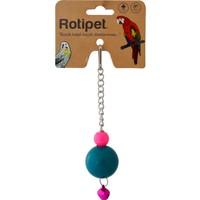 Rotipet Şekilli Plastik Toplu Sarkaç Kuş Oyuncağı