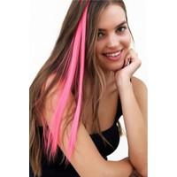 Modamarka-Shop Saç Aksesuarı Renkli Çıtçıtlı Postiş Kaynak Saç Fuşya