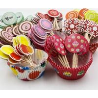 Pratik Rengarenk 24 Parça Muffin ve Kek Seti