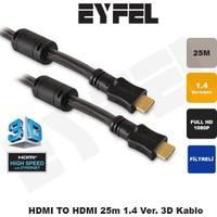 Eyfel Eyfel Hdtv125 Hdmı To Hdmı 25M 1.4 Ver. Kablo Hdtv125