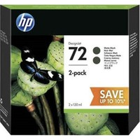 Hp 72 130Ml Black Ink Crtg 2-Pack P2V33A