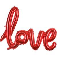 Kırmızı Love İmza Modeli Folyo Balon 67 CM