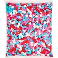 Şeker Bonibon Karışık Renk Kalp Modeli (1 KG)