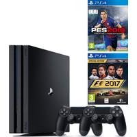 Sony Playstation 4 Pro 1 Tb ( Ps4 Pro ) + 2. Ps4 Kol + Ps4 Pes 2018 + Ps4 F1 2017