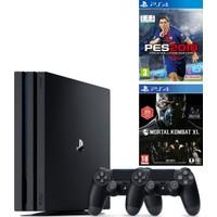 Sony Playstation 4 Pro 1 Tb ( Ps4 Pro ) + 2. Ps4 Kol + Ps4 Pes 2018 + Ps4 Mortal Kombat Xl