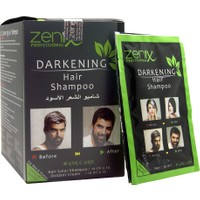 Zenix Darkening Beyaz Saçlar İçin Siyah Şampuan 10X10Ad