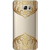 Kılıf Merkezi Samsung Galaxy Note 5 Tasarım Desen Baskılı Silikon Kılıf