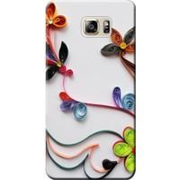 Kılıf Merkezi Samsung Galaxy S7 Edge Çiçek Desen Baskılı Silikon Kılıf