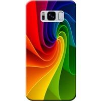 Kılıf Merkezi Samsung Galaxy S8 Renk Dalgası Baskılı Silikon Kılıf