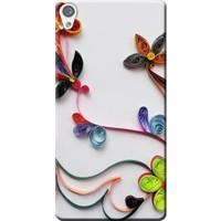 Kılıf Merkezi Sony Xperia Xa1 Ultra G3221 Çiçek Desen Baskılı Silikon Kılıf