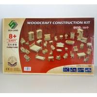 Hdm Minyatür Ev Eşyaları Oyuncak Maket Ahşap Eğitici Evcilik