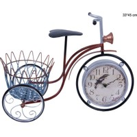 Lucky Art Metal Sepetli Bisiklet Saat 33*45Cm Hw020